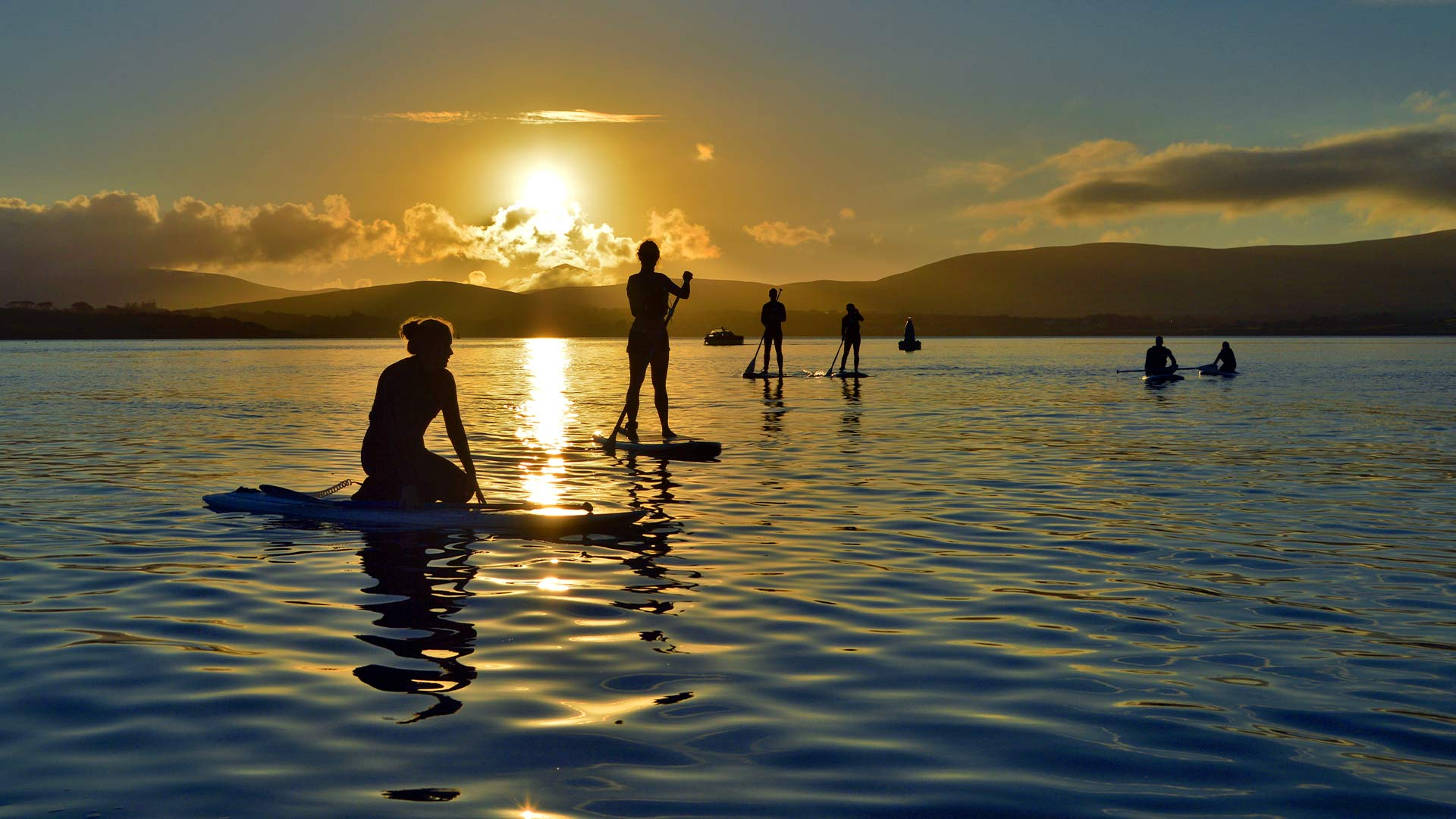 SUP at sunset in Kerry